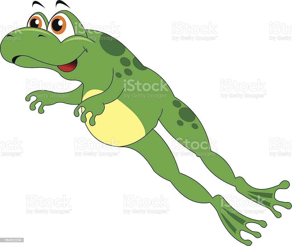leaping frog royalty-free stock vector art