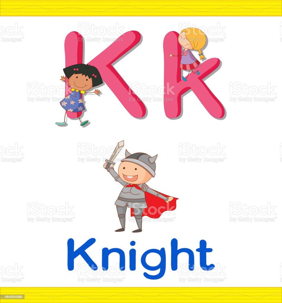 Learn alphabet worksheet royalty-free stock vector art