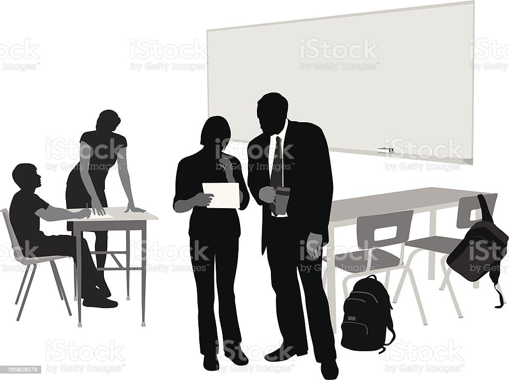 Learnin' Vector Silhouette royalty-free stock vector art