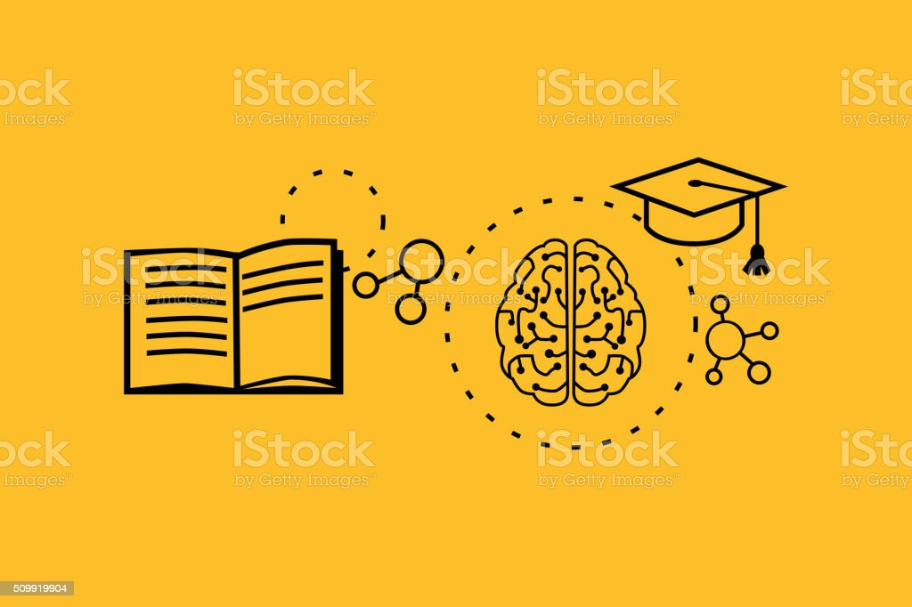 Learning Ability Concept Design vector art illustration