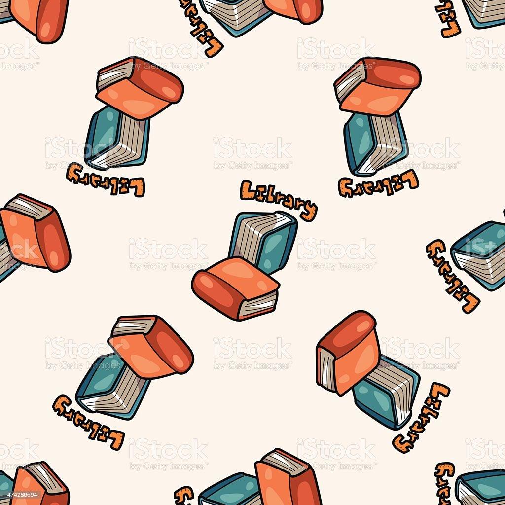 livre dapprentissage motif sans couture dessin anim fond stock vecteur libres de droits. Black Bedroom Furniture Sets. Home Design Ideas