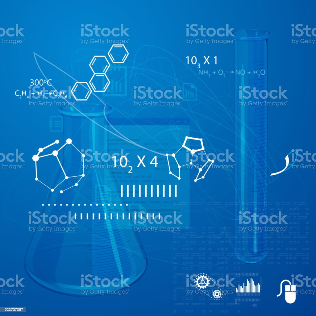 Learning Science vector art illustration