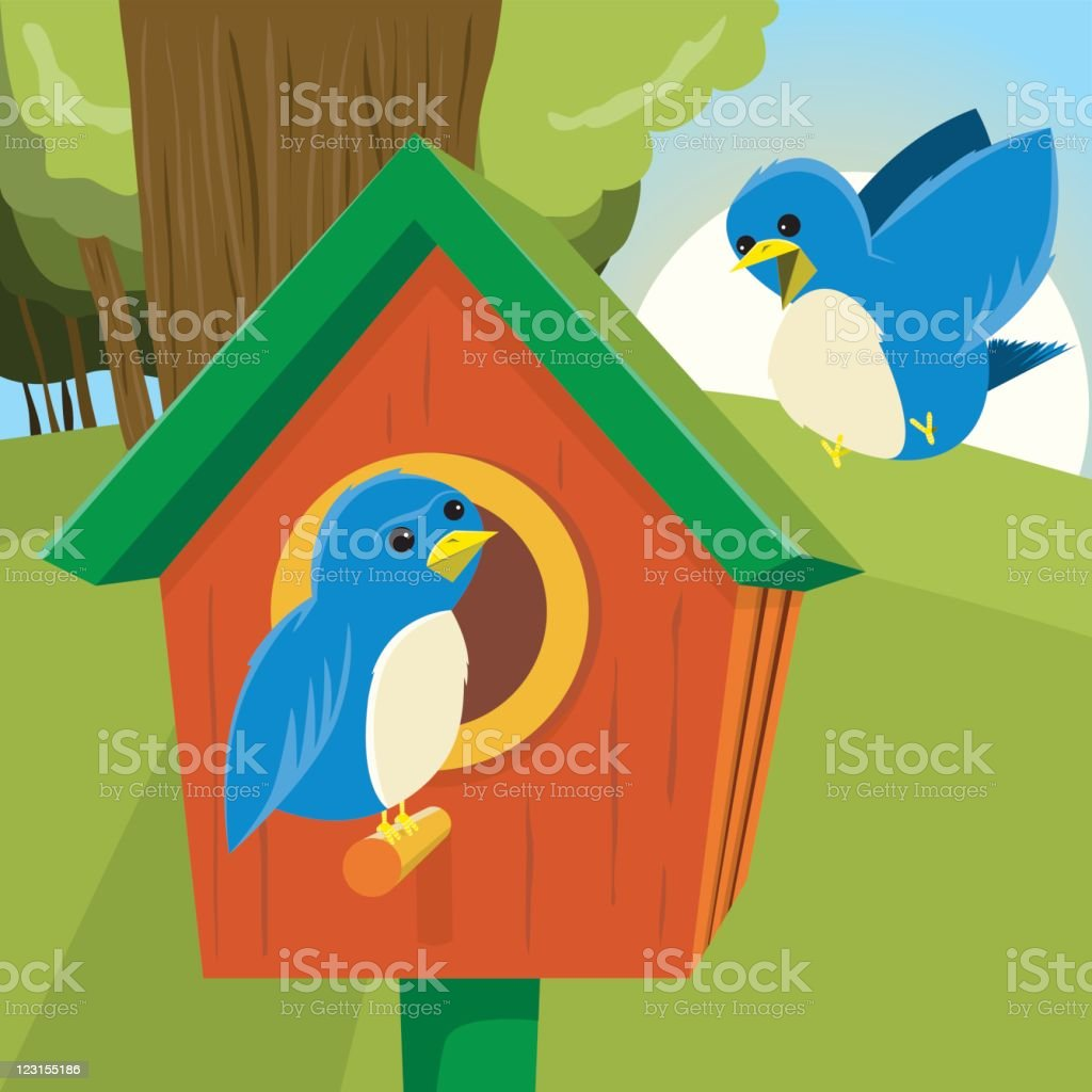 Learning to Fly royalty-free stock vector art