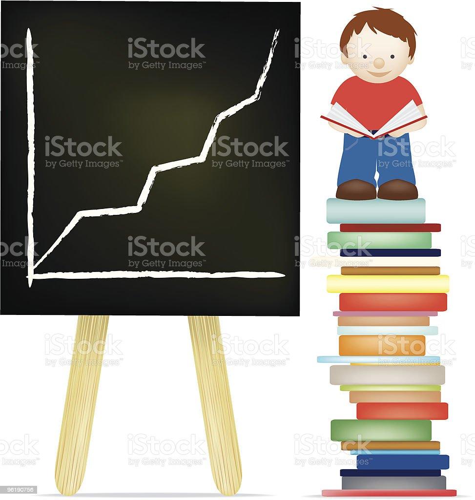 Learning zu lesen Lizenzfreies vektor illustration