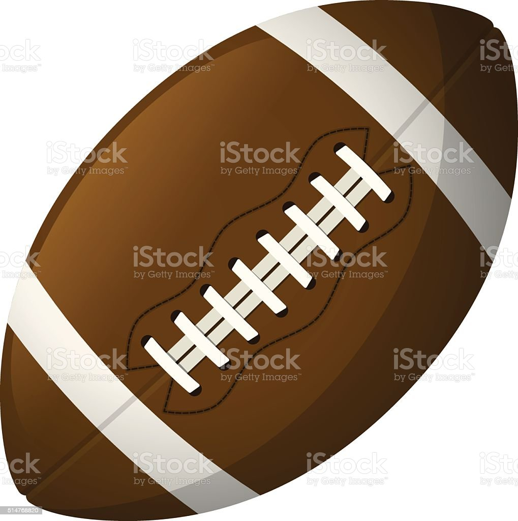 Leather American football ball vector art illustration