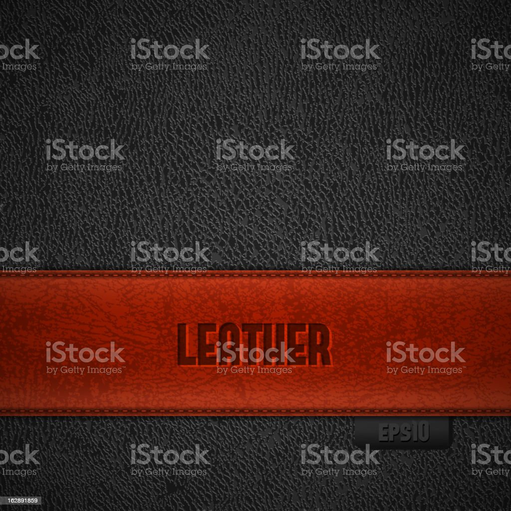 Leather backgroud with red stripe royalty-free stock vector art
