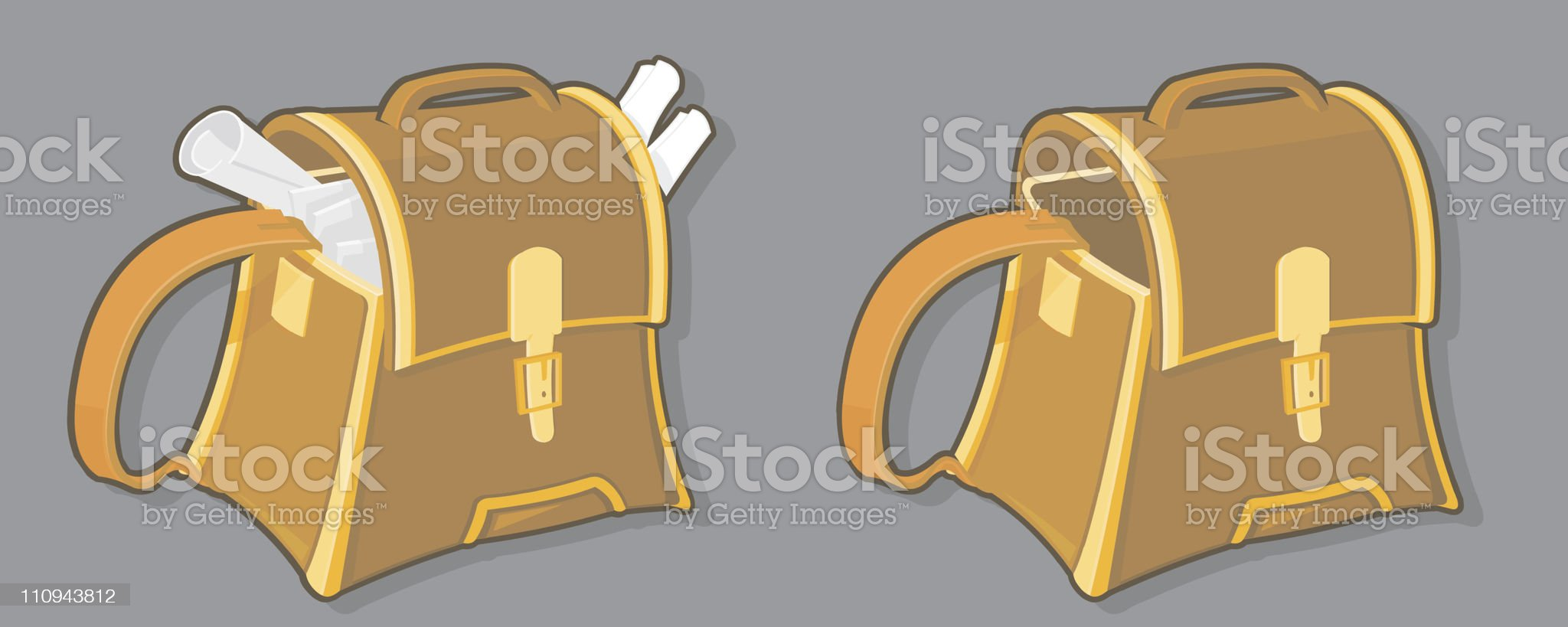 Leather Bag royalty-free stock vector art