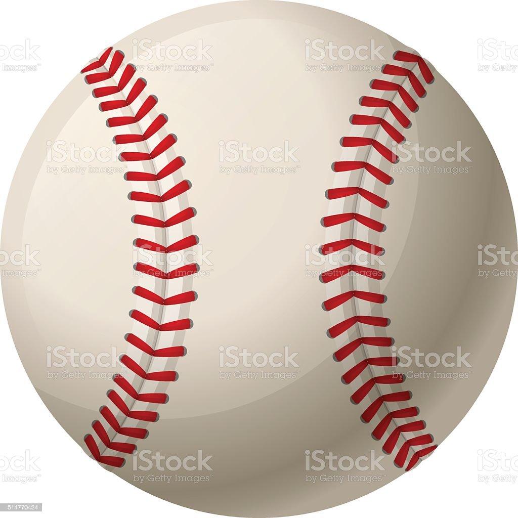 Leather baseball ball vector art illustration