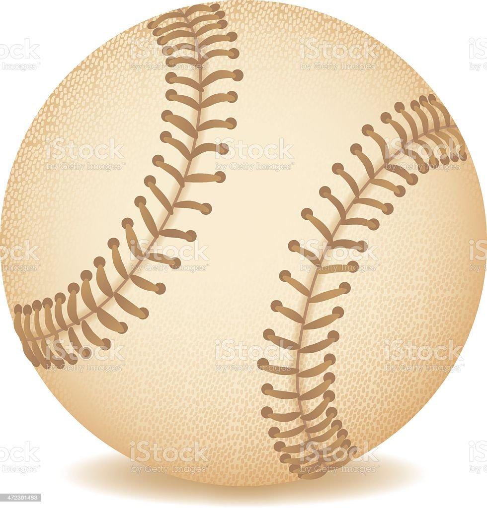 Leather Baseball royalty-free stock vector art