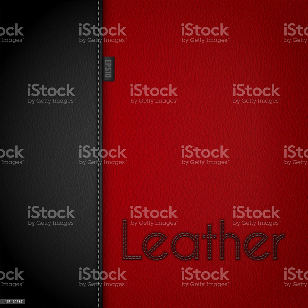 Leather bckground vector art illustration