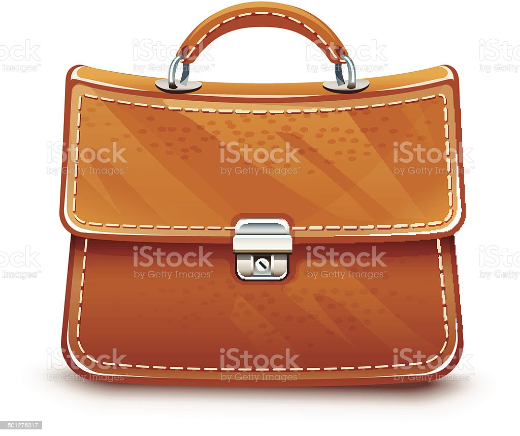 Leather briefcase royalty-free stock vector art