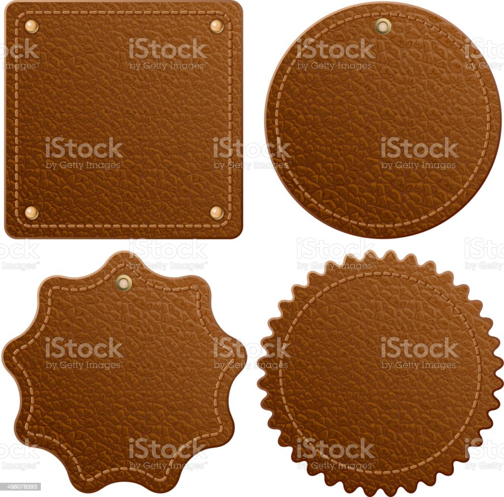 Leather label vector art illustration