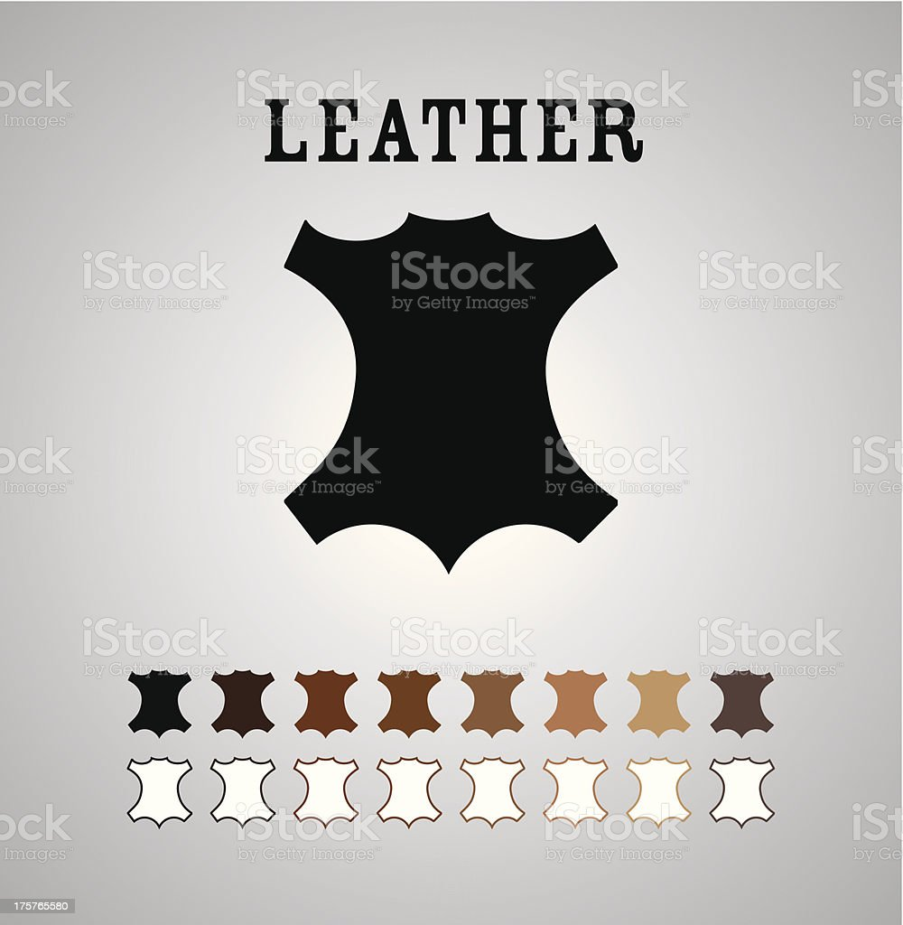 Leather Mark vector art illustration