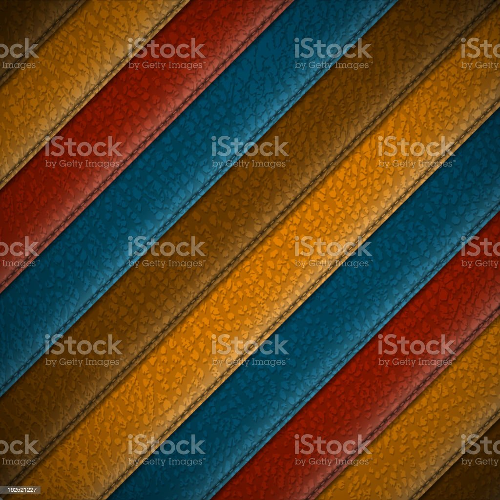 Leather stripes royalty-free stock vector art