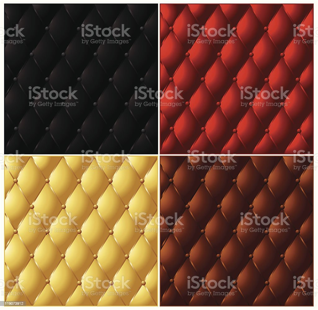 Leather texture collection royalty-free stock vector art