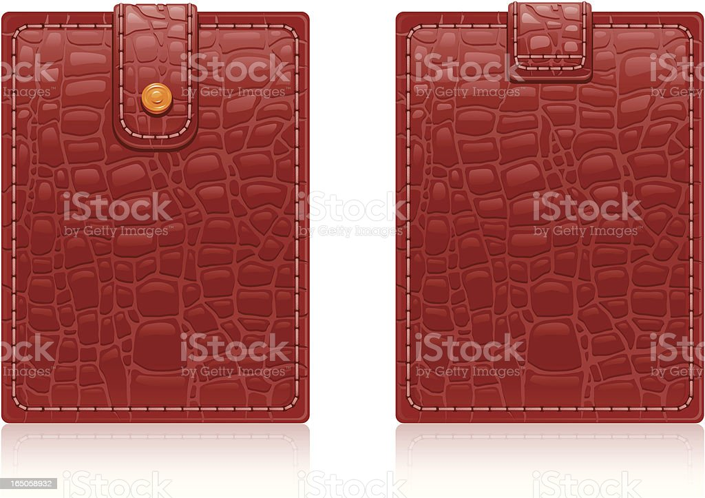 Leather wallet - double side royalty-free stock vector art