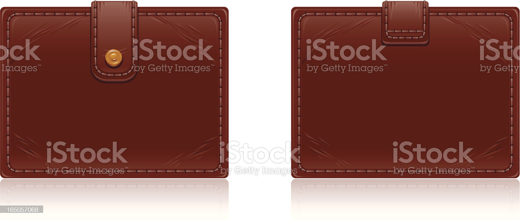 Leather wallet royalty-free stock vector art