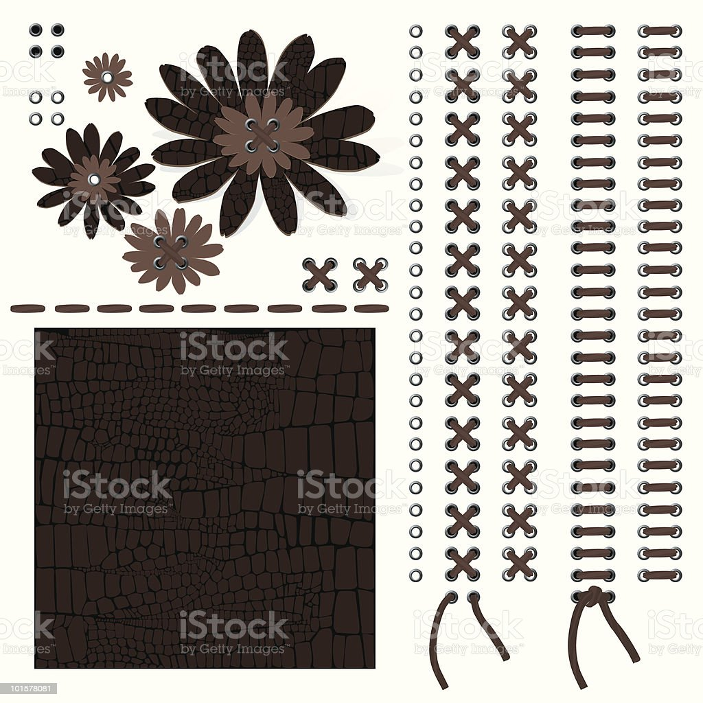 Leather-Design Elements vector art illustration