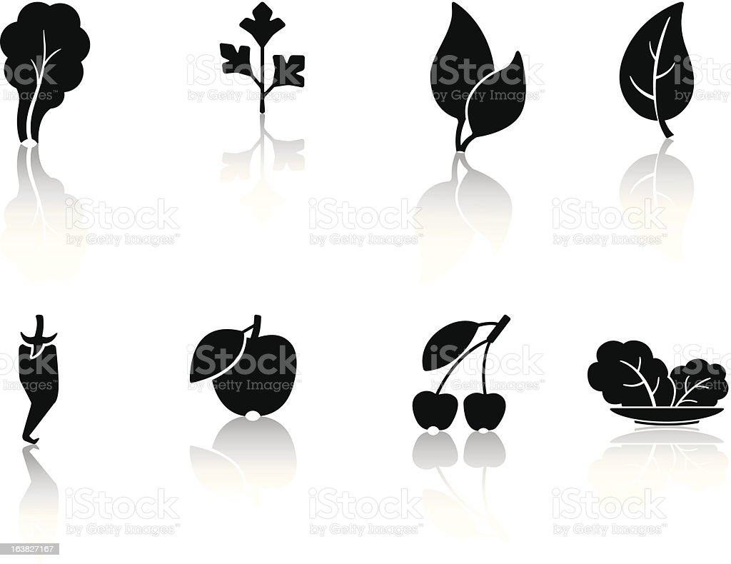 leaves and fruit royalty-free stock vector art