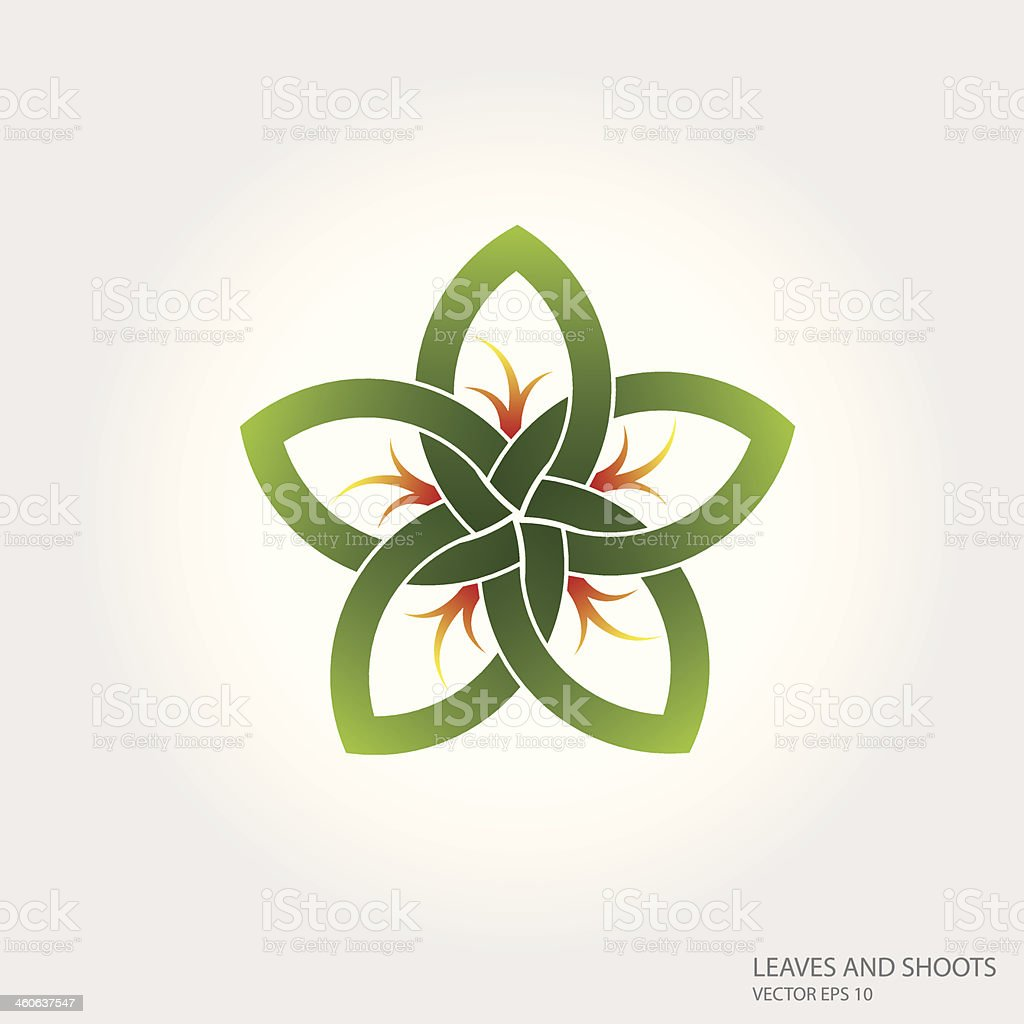 Leaves and Shoots Illustration royalty-free stock vector art