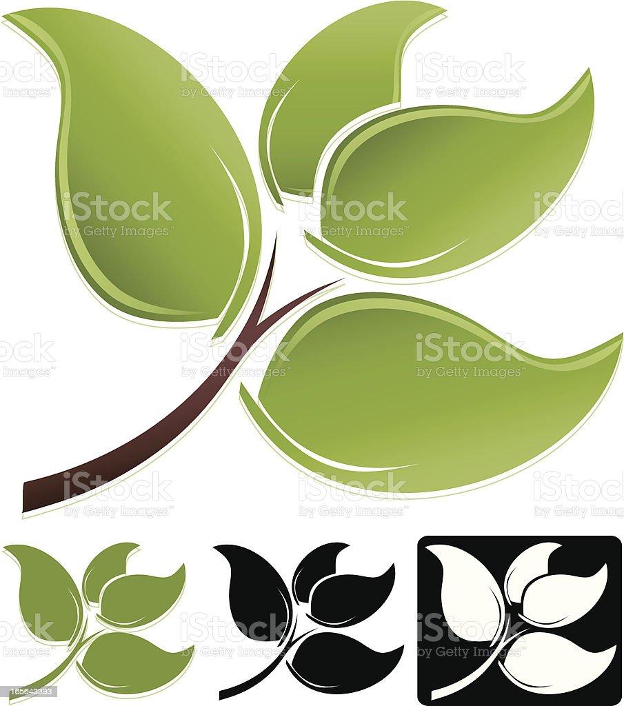 Blätter-Design-Element, die Symbole und Zeichen-Set Lizenzfreies vektor illustration