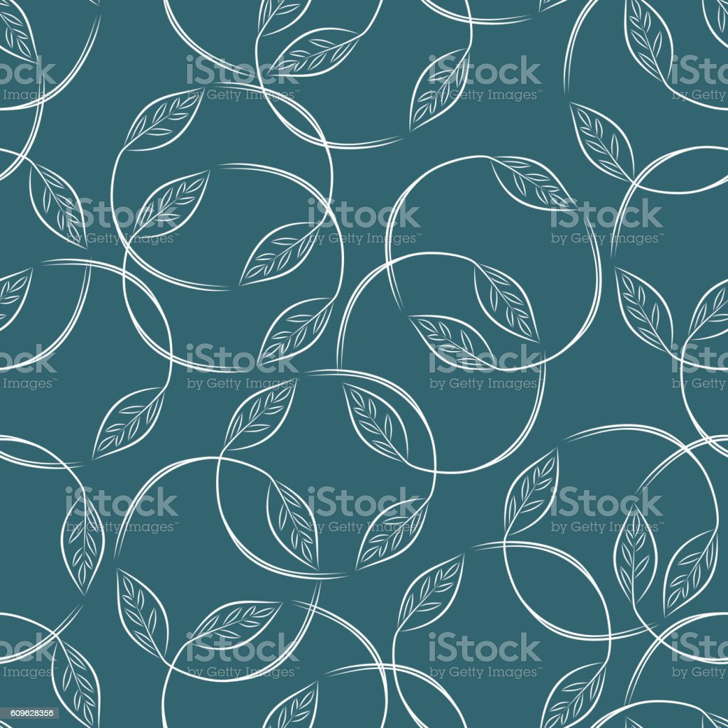 Leaves. Foliage background. Floral seamless pattern. vector art illustration