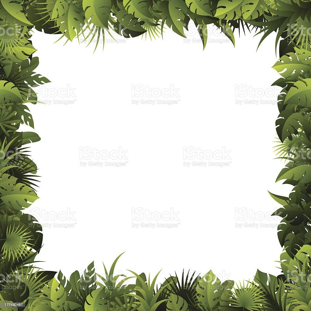 Leaves Frame vector art illustration