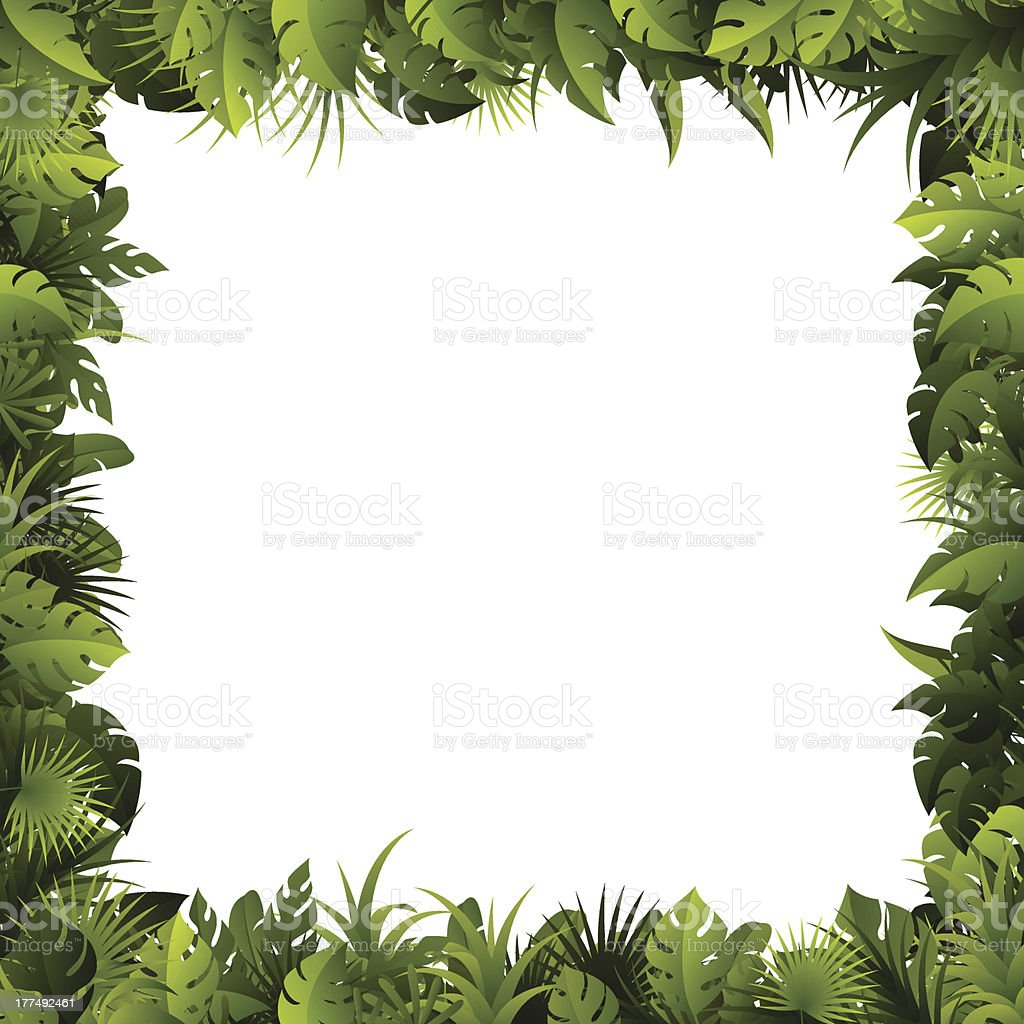 Leaves Frame vector art illustration