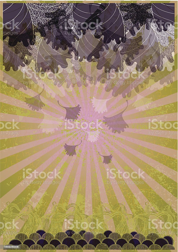 Leaves grunge royalty-free stock vector art