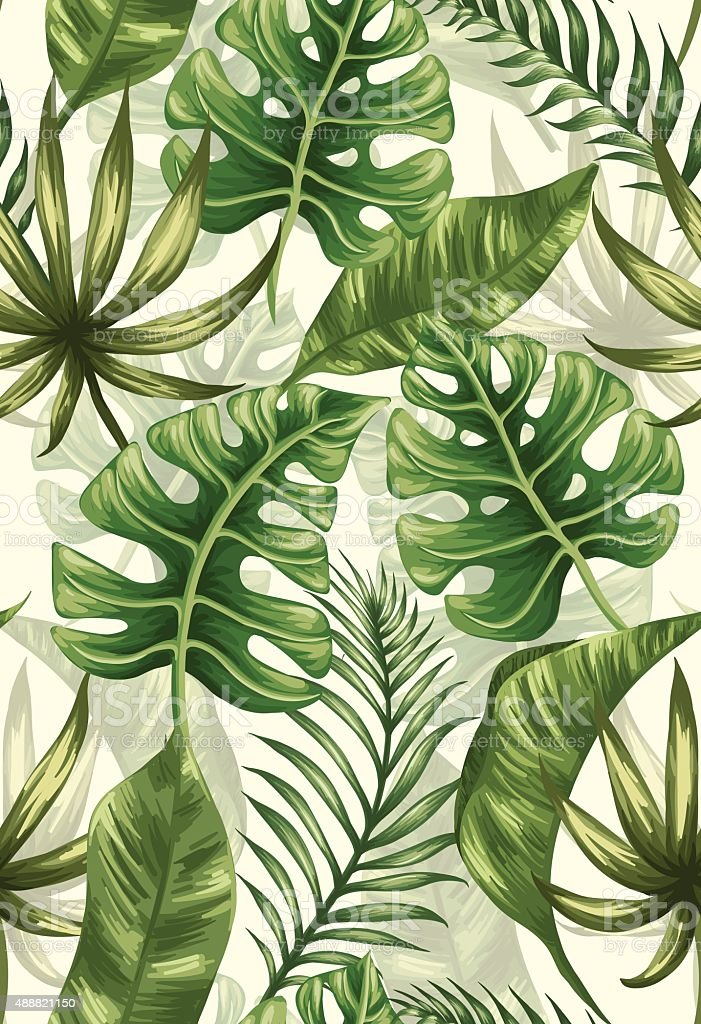 Leaves pattern vector art illustration