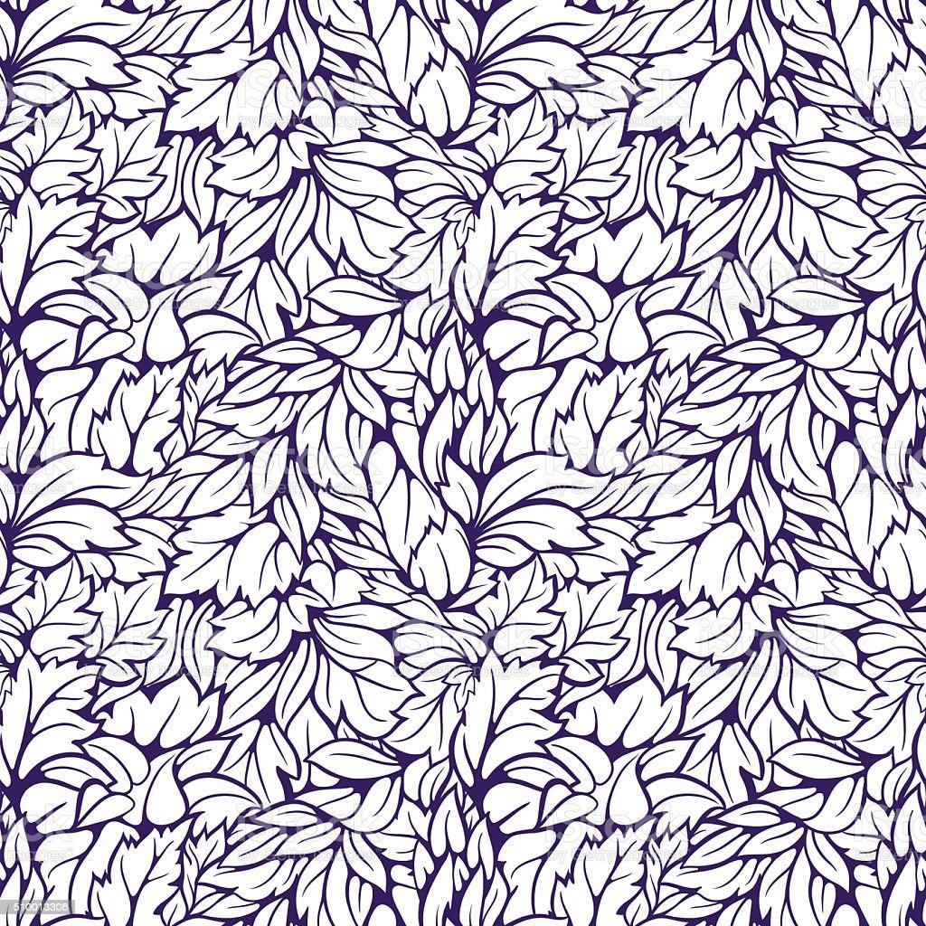 Leaves seamless pattern vector art illustration