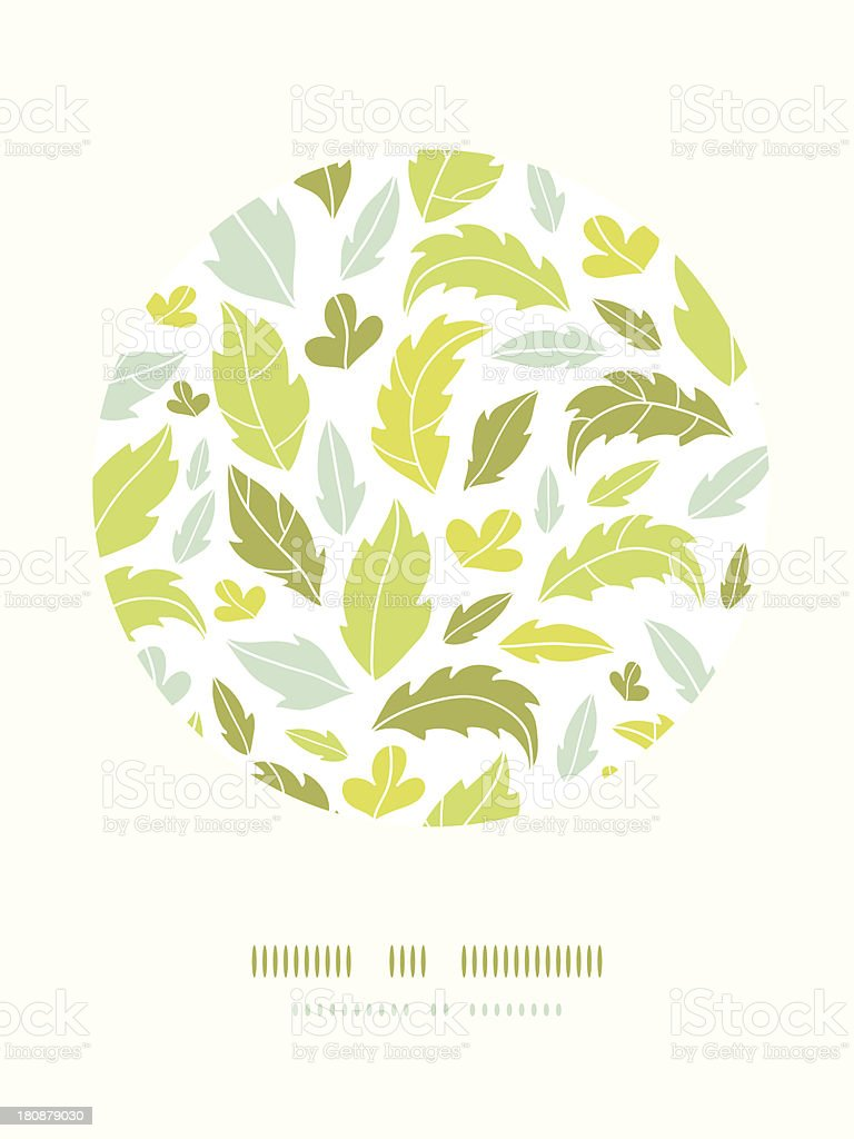 Leaves silhouettes circle decor pattern background royalty-free stock vector art