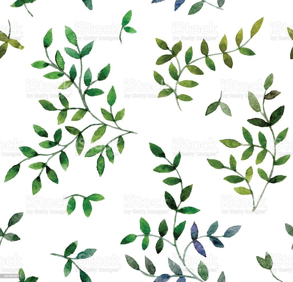 leaves vector art illustration
