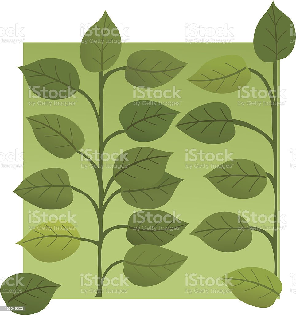Leaves Wallpaper royalty-free stock vector art