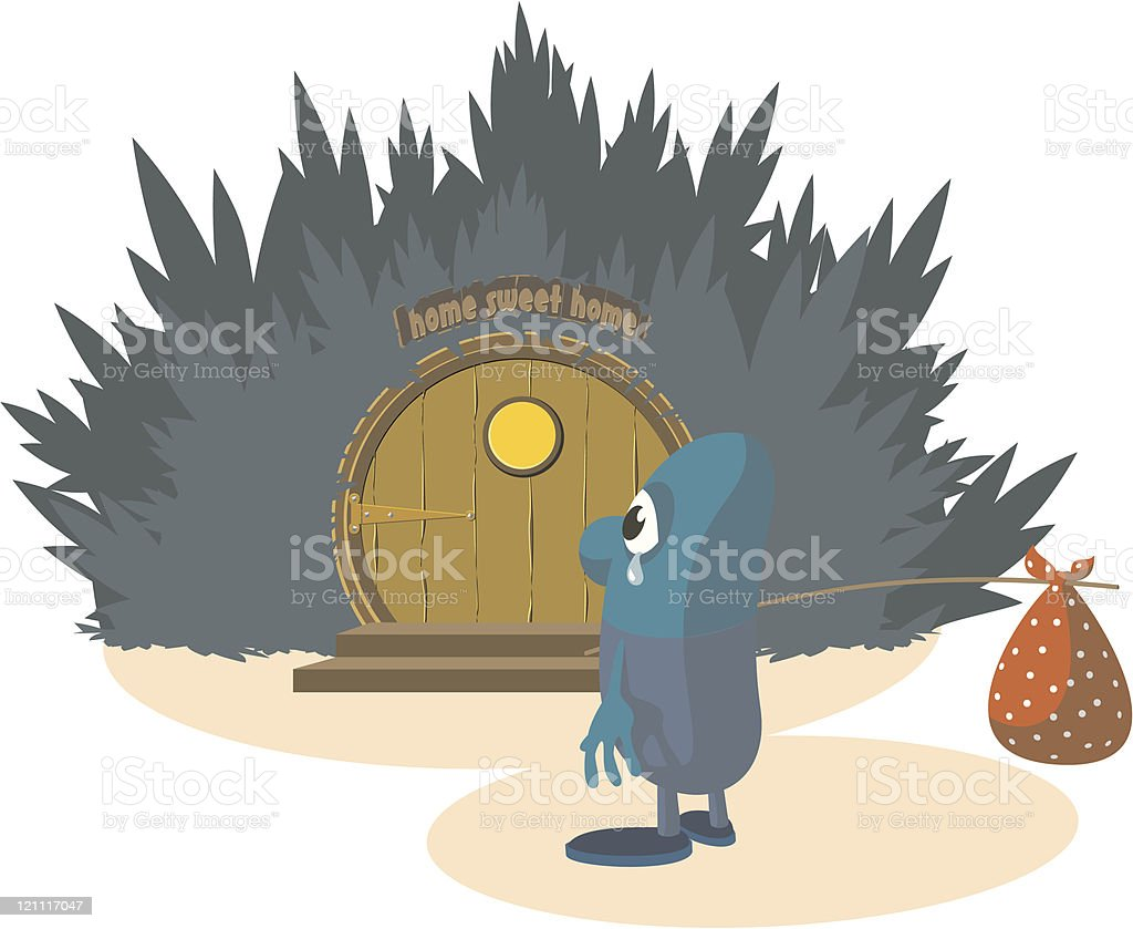 Leaving Home royalty-free stock vector art