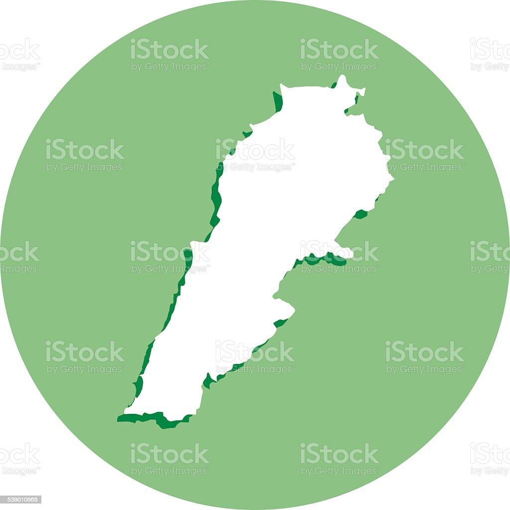 Lebanon Roud Icon vector art illustration