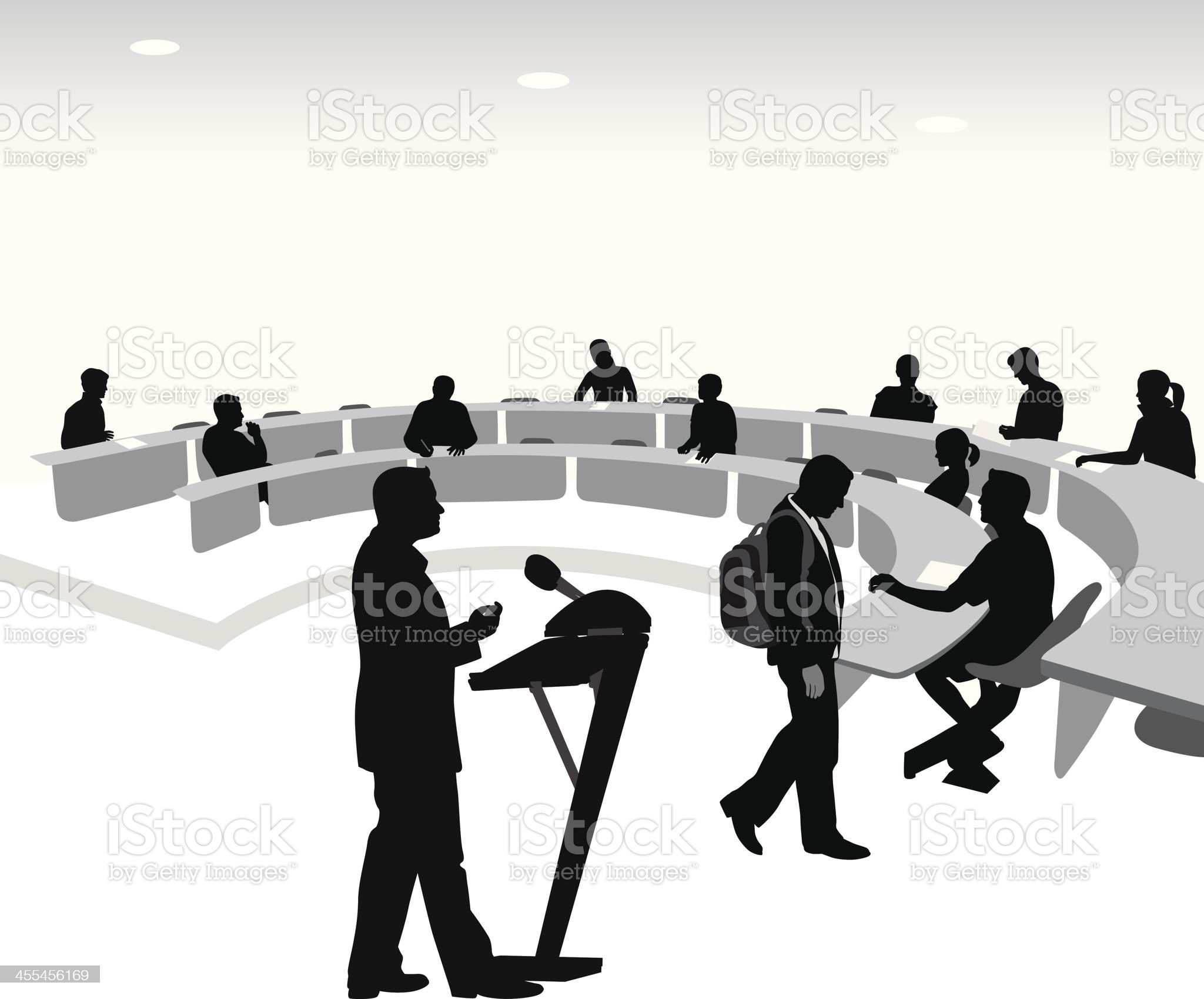 Lecture Hall Vector Silhouette royalty-free stock vector art