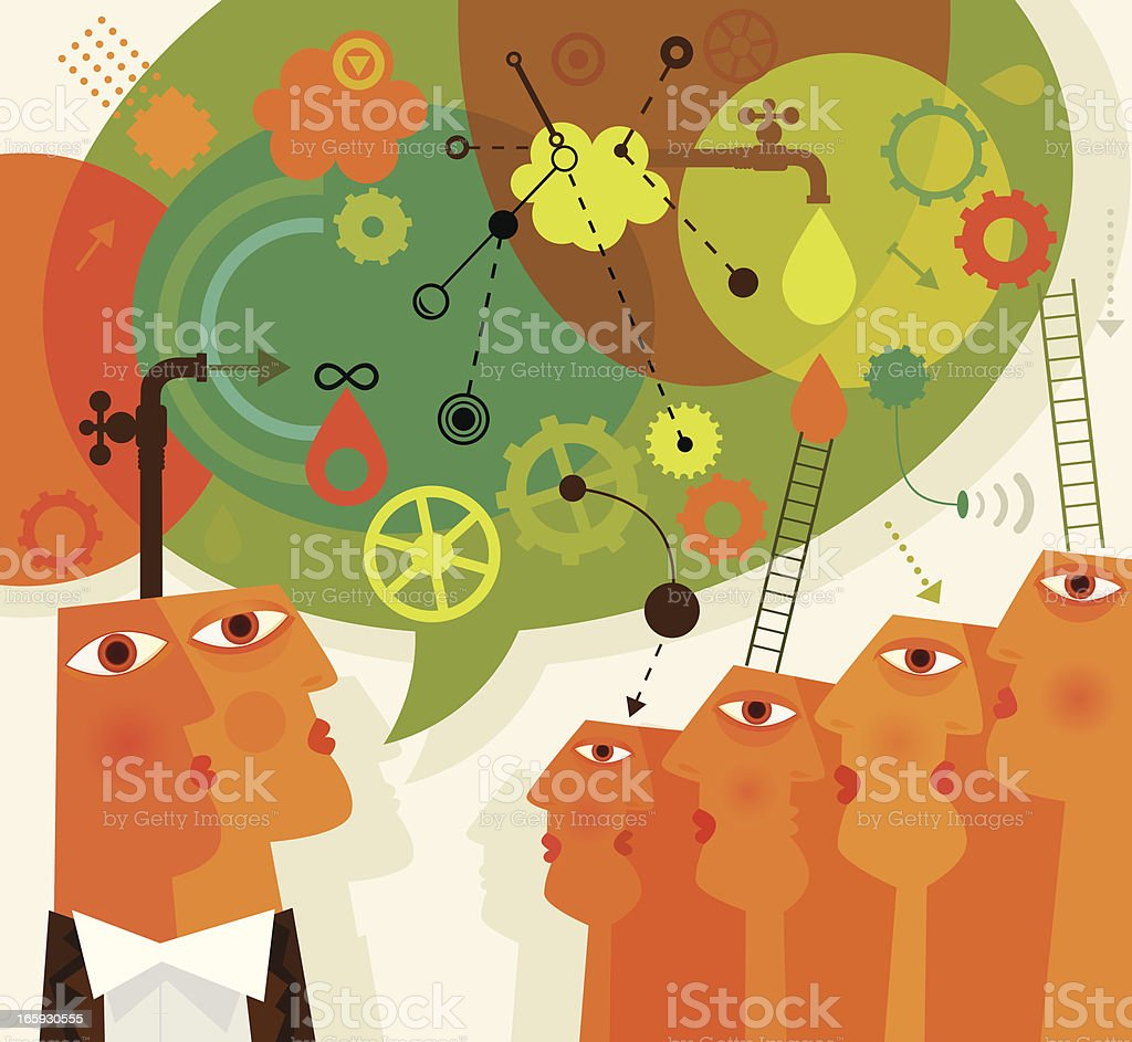 Lecturing royalty-free stock vector art