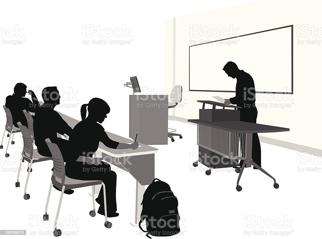 Lecturing vector art illustration