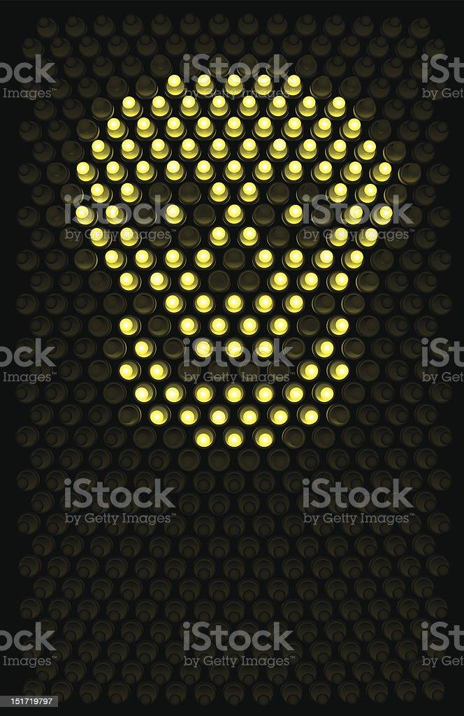 Led Skull royalty-free stock vector art