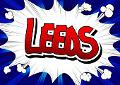 Leeds - Comic book style word.