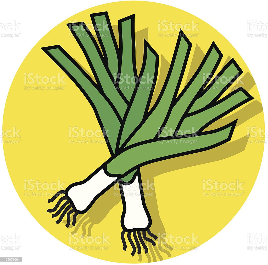 leeks icons vector art illustration