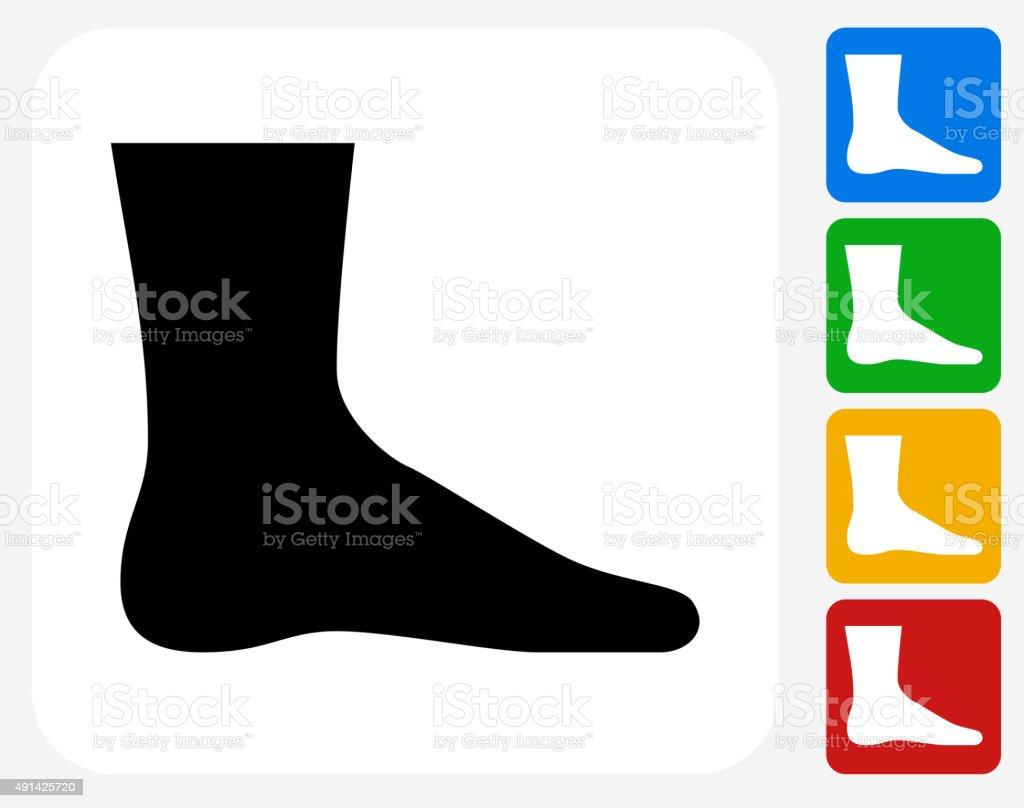 Leg Icon Flat Graphic Design vector art illustration