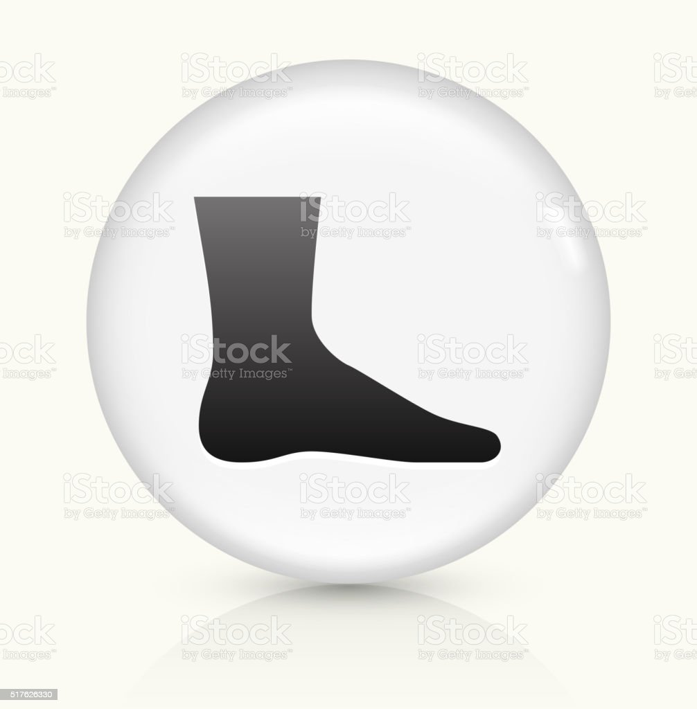 Leg icon on white round vector button vector art illustration