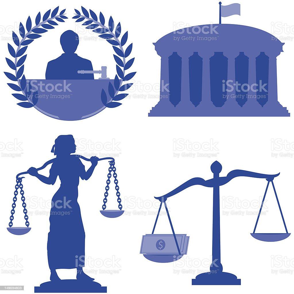 Legal Elements royalty-free stock vector art