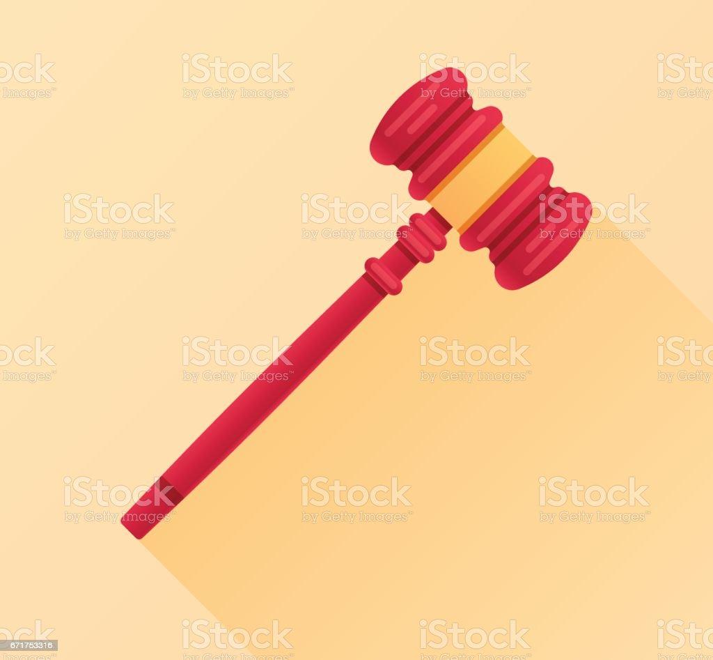 Legal Gavel Law Firm vector art illustration