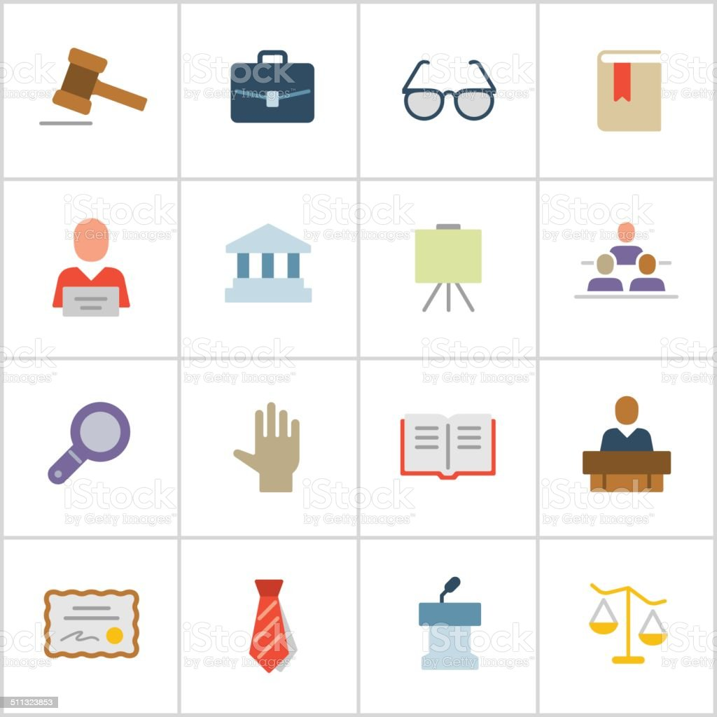 Legal Icons — Poly Series vector art illustration