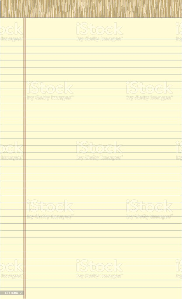 Legal Pad Actual Size royalty-free stock vector art