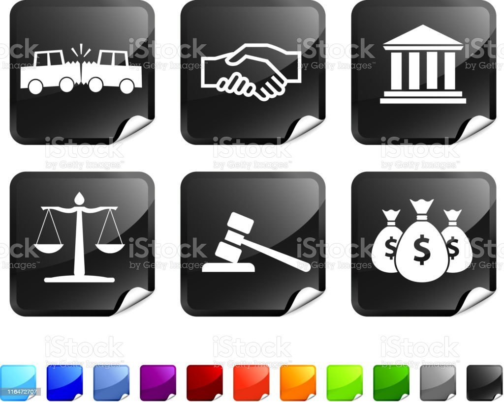 legal royalty free vector icon set royalty-free stock vector art
