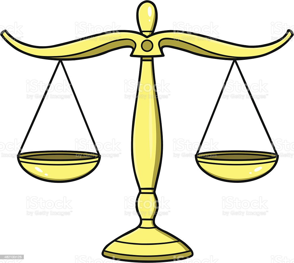 Legal Scales Of Justice royalty-free stock vector art
